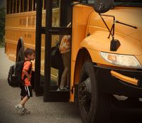 Back to school bus busy
