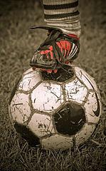 Soccer in rain